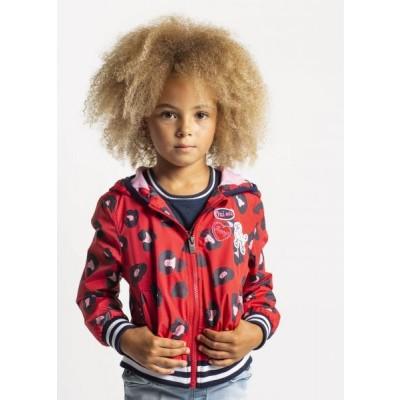 Quapi Girls Jacket Sarella Rouge Red Leopard