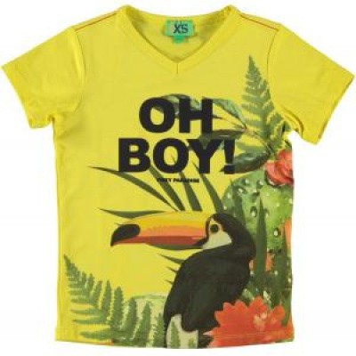 Foto van Funky xs boy tee yellow tropical