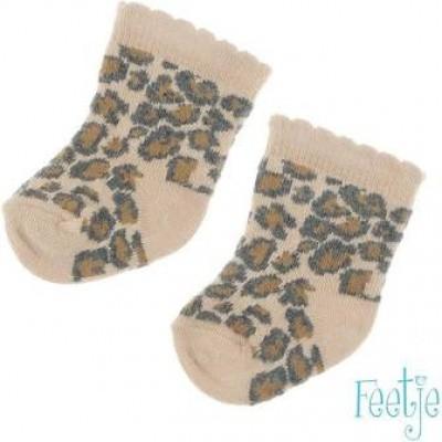 Foto van Feetje newborn girls Sokken All over print Zand Panther Perfect
