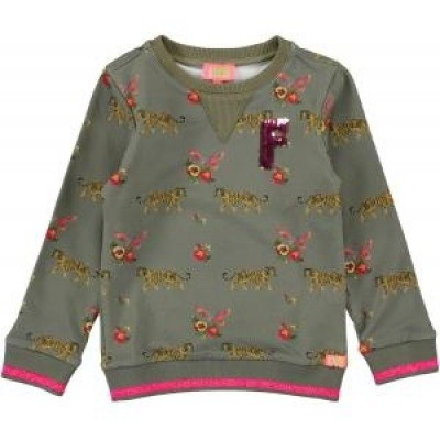 Funky xs girls sweater light army