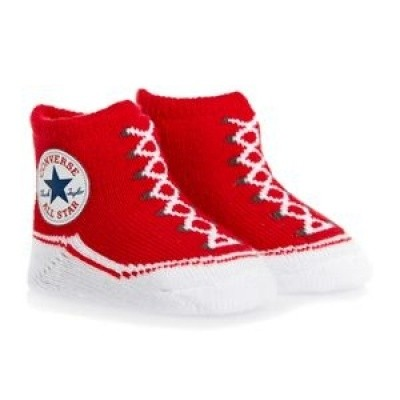 Converse Infant Booties red/white