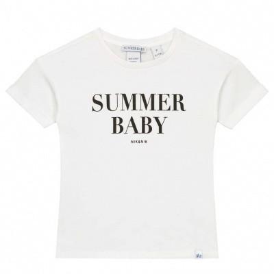 Nik & Nik Summer t-shirt Off white black letters