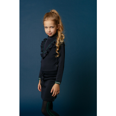 Little miss juliette dress navy ruffle