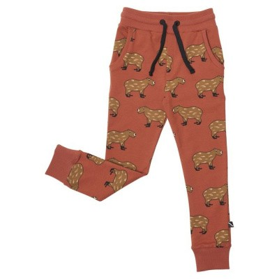 Foto van CarlijnQ Boys Capibara - Sweatpants Rood/All over print Capibara