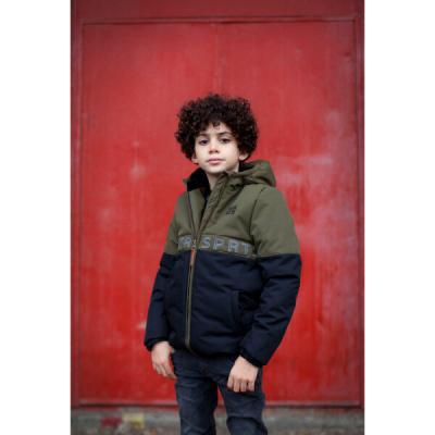 Foto van Moodstreet jongens winterjas army/black