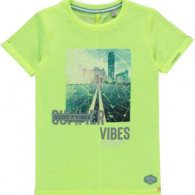 Foto van Quapi boys shortsleeve Selian Fresh yellow