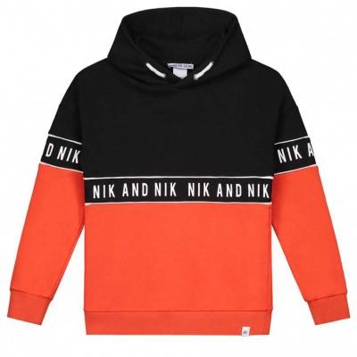 Nik & Nik boys Marvus Hoodie Sport Orange