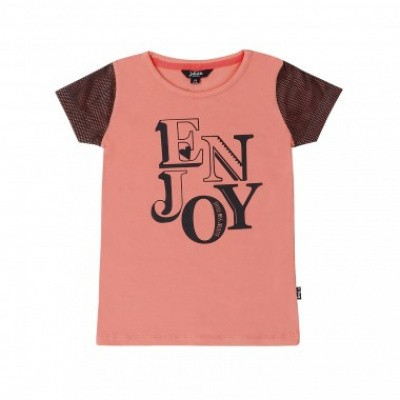 Little miss Juliette T-shirt Coral