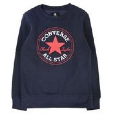 Converse boy sweater chuck patch crew navy
