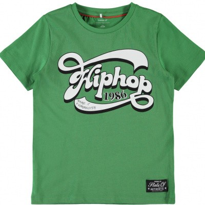 Foto van Name it boys shirt hip hop green