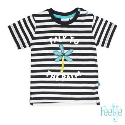 Feetje baby boy T-shirt k/m streep Mr. Laidback Zwart