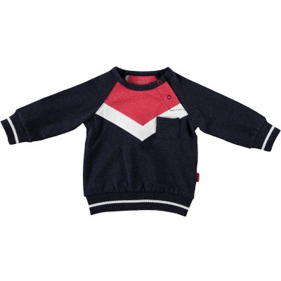 Bess newborn sweater colorblock blue
