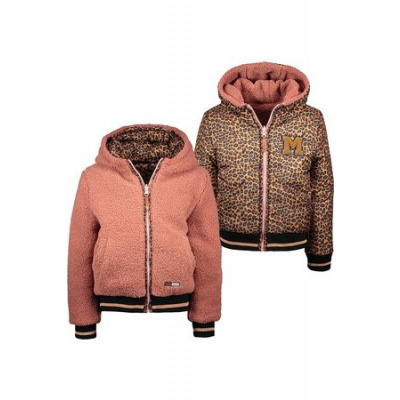 Moodstreet reverseble winterjas teddy/leopard