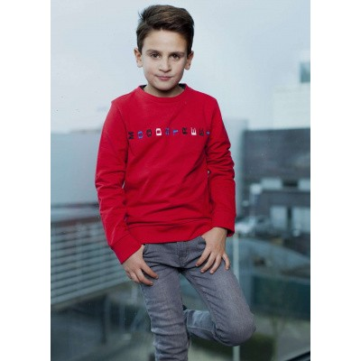 Foto van Moodstreet boys sweater red