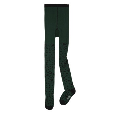 Foto van CarlijnQ girls Tights Spotted animal groen/zwart