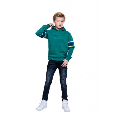 Indian blue jeans boys sweater tape sleeve warm green