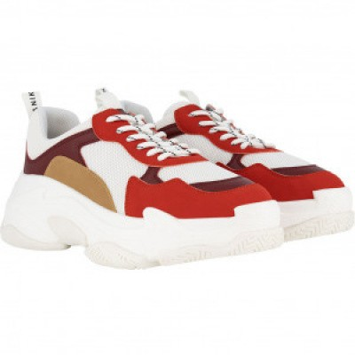 Foto van nik en Nik girls chunky sneaker white/red/brown
