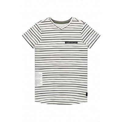 Foto van Levv Boys Shortsleeve Farley White Painted Stripe