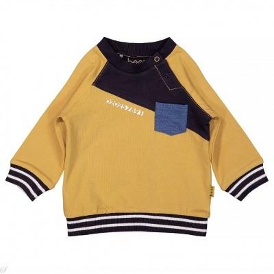 Foto van Bess baby boy sweater diagonal ocre