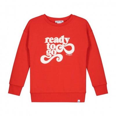 Nik & Nik girls Ready To Go Sweater Bright Red