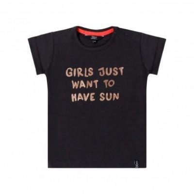 Foto van Beebielove girls t-shirt sun black/golden letters