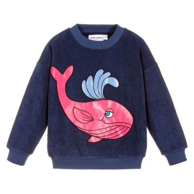 Foto van Mini Rodini Whale sp terry sweatshirt