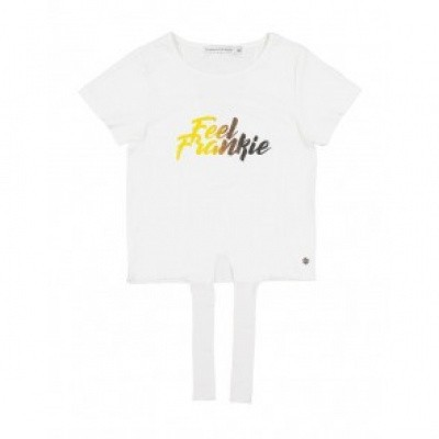 Frankie & Liberty Kez Tee White (colored letters)