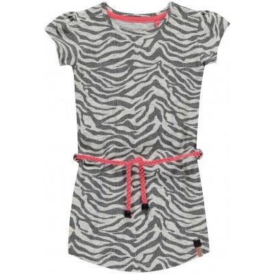 Quapi girls dress Saar grey zebra