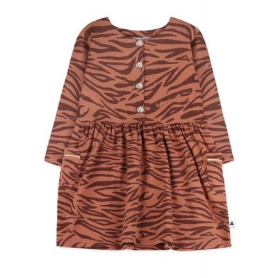 Ammehoela girls dress tiger brown