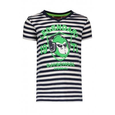 Foto van Tygo & Vito striped t-shirt 'Monkey' navy