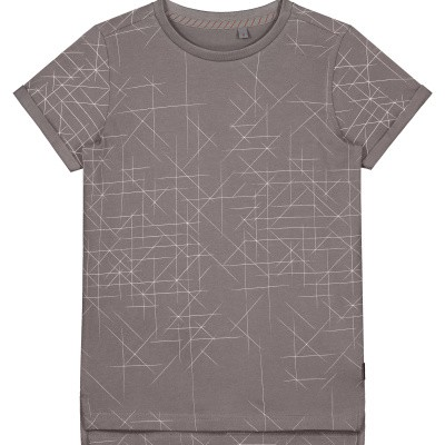 Levv shirt Felix steel graphic lines
