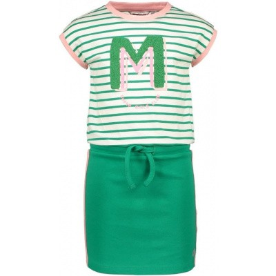 Foto van Moodstreet dress green stripe