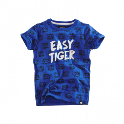 Foto van Z8 baby boys Lucas korte mouw Brilliant blue/Midnight navy all over print tijger