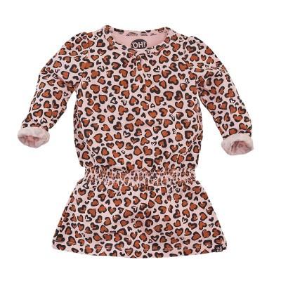 Foto van Z8 Girls Riga Jurk Soft Pink Leopard