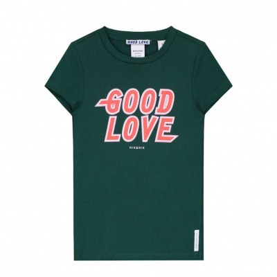 Foto van Nik & nik girls Good T-shirt dark green