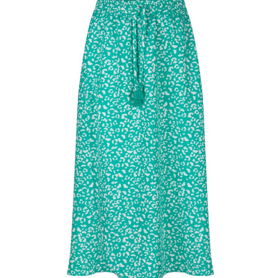 Indian blue jeans long skirt panter print