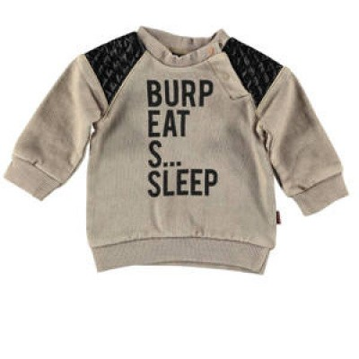 Bess newborn boys Sweater Shoulderpatch Sand