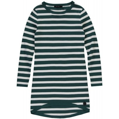 Foto van Lev Girls Dress Babine Emerald Green stripe