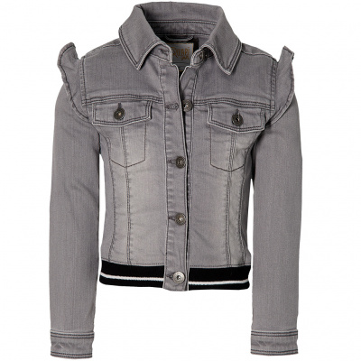 Foto van Quapi girls denim jacket Fieke grey