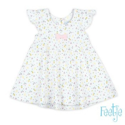 Feetje Baby Girl Jurk AOP Sweet By Nature White