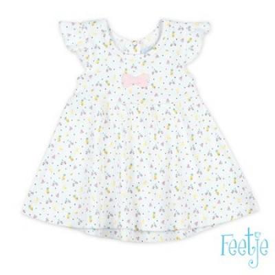 Foto van Feetje Baby Girl Jurk AOP Sweet By Nature White