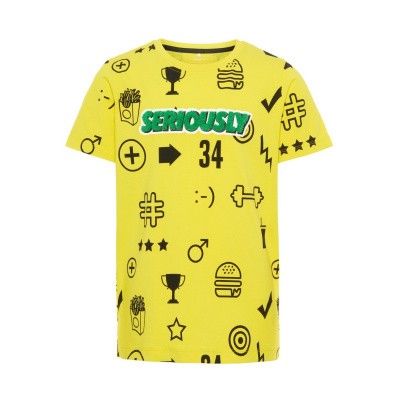 Foto van Name it boys short yellow seriously
