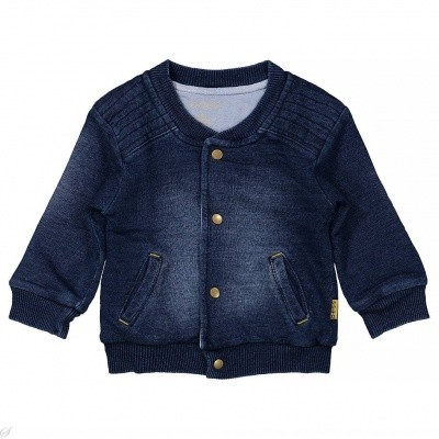 Bess boys newborn cardigan denim stonewash