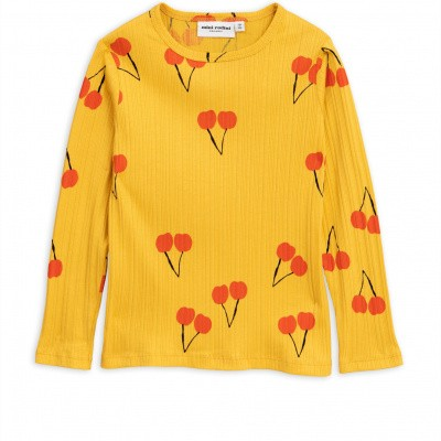 Foto van Mini rodini cherry tee yellow