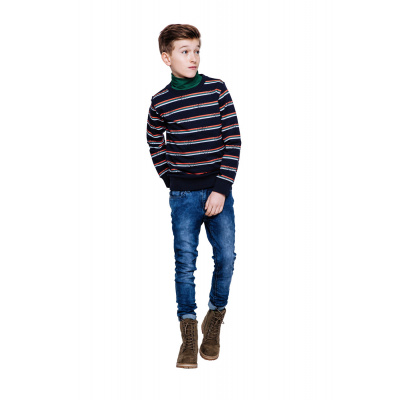 Foto van Indian blue jeans sweater all over indian