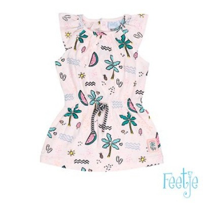 Foto van Feetje baby girls jurk kapmouw AOP tropical