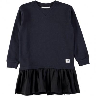 Molo girl dress Caprice dark navy