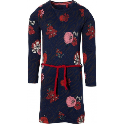 Foto van Quapi girls dress dark blue flower