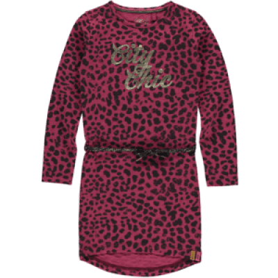 Quapi girl Tamia 3 Dress Bordeaux leopard