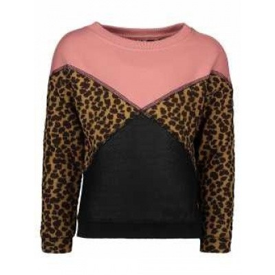 Flo sweater old pink leopard